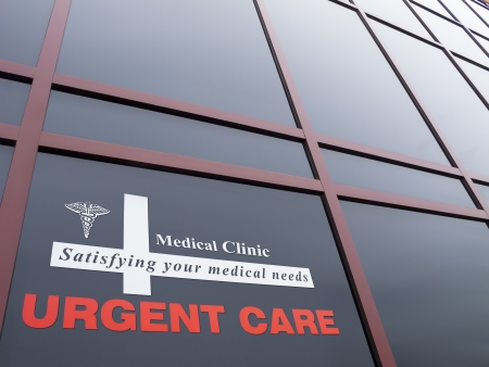 Urgent care building and signage