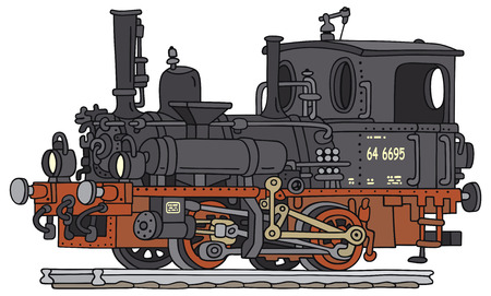 Hand drawing of an old steam locomotive: Royalty-free vector