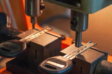 professional machine makes a new keys