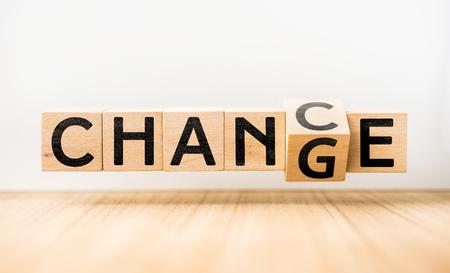 Photo pour CHANGE & CHANCE concept - image libre de droit