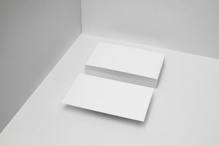 Photo pour Blank business cards for corporate identity set - image libre de droit