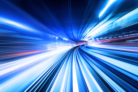 Photo for High speed abstract track of motion light for background - Royalty Free Image