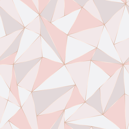 Illustration pour Geometric seamless pattern. Abstract Polygonal background. Triangle vector Pastel backdrop. - image libre de droit