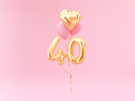 Foto de celebration balloon with number 40 - Imagen libre de derechos