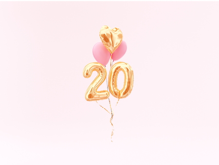 Foto de celebration balloon with number 20 - Imagen libre de derechos