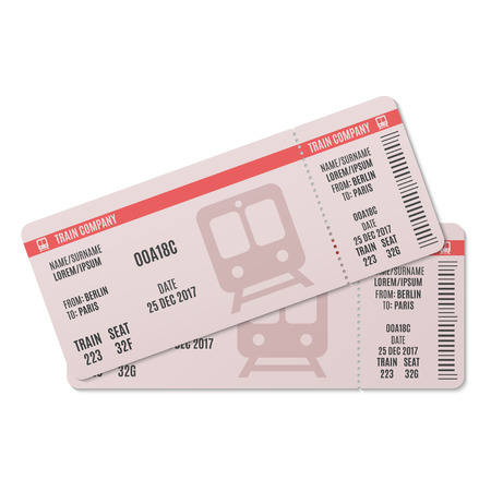 Illustration pour Train tickets - image libre de droit