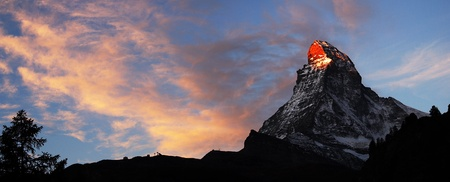 The Matterhorn peak at sunset