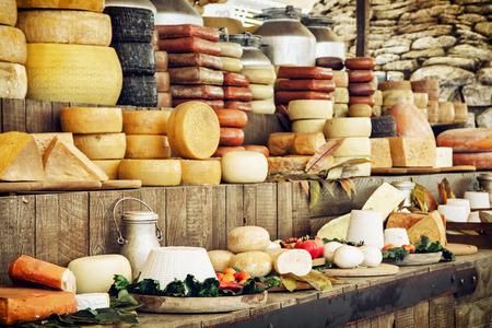 Foto für Dairy products and vegetables. Grocery shop. Food theme. - Lizenzfreies Bild