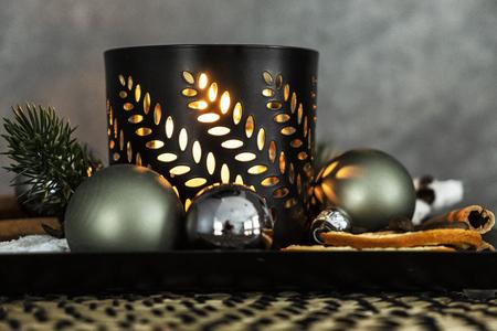 Detail photo of Christmas decoration. Christian symbolism.