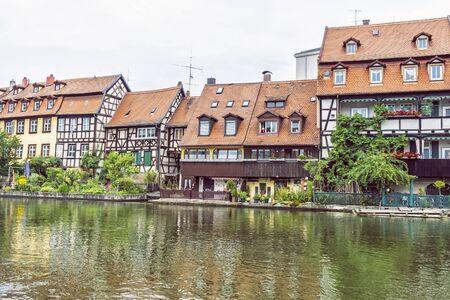 Photo pour Fishing district Little Venice in Bamberg, Bavaria, Germany. Travel destination. Architectural theme. - image libre de droit