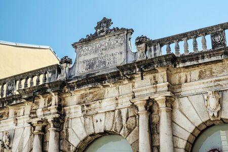 Photo pour Detail of architecture in Zadar, Croatia. Travel destination. - image libre de droit