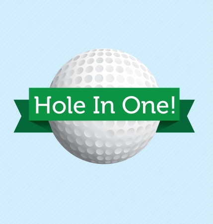 Hole in one golf label