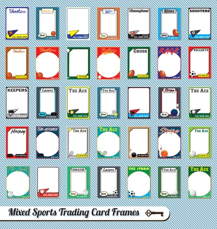 Vintage Mixed Sport Trading Card Picture Frames