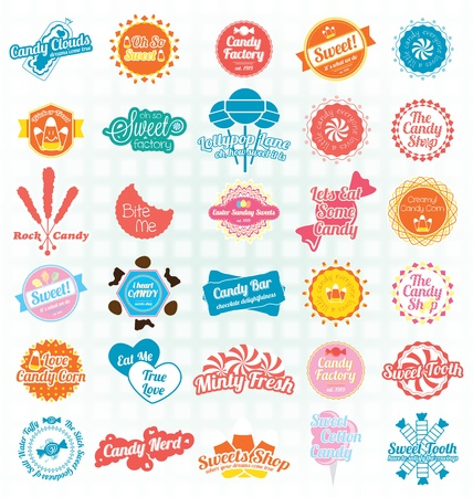 Candy and Sweets Labels and Icons