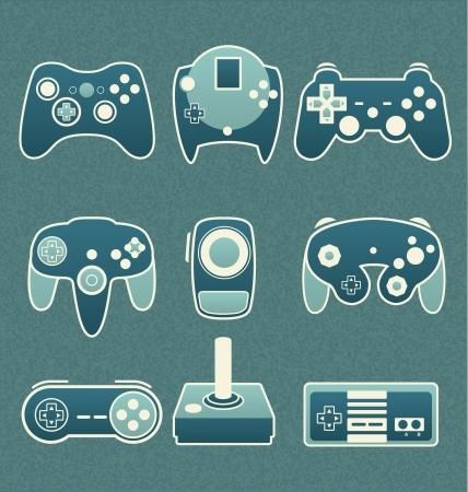 Vector Set  Retro Video Game Remote Controls