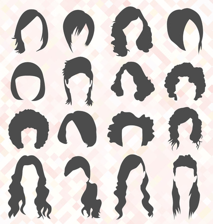 Womans Hair Style Silhouettes