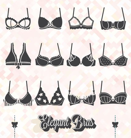 Vector Set of Bra and Bustier Silhouettes