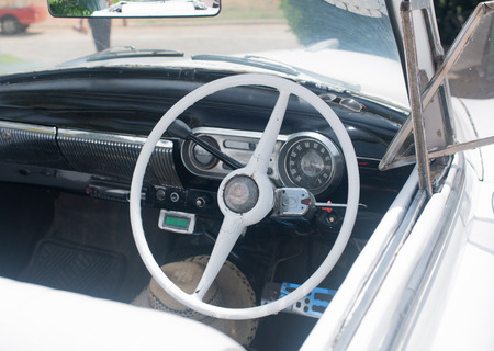 inside view of a white American Oldtimer