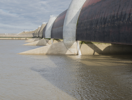 Eider Barrage on the North Sea