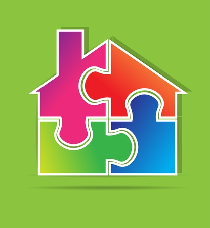 Real estate puzzle vector format