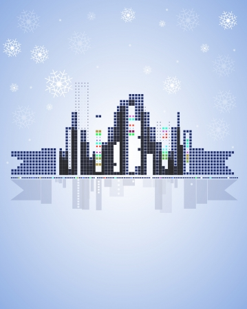 winter city real estate christmas background