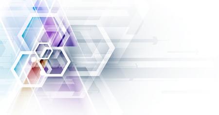 Ilustración de Abstract hexagon background. Technology poligonal design. Digital futuristic minimalism. Vector - Imagen libre de derechos