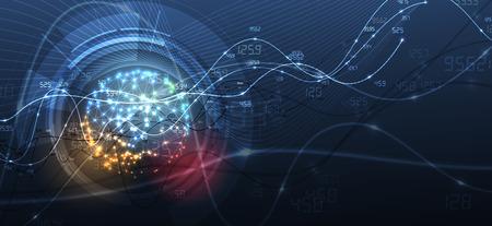 Illustration pour Technology innovation background, idea of global business solution - image libre de droit