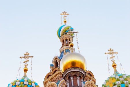 the domes ot the Church of the Savior on Spilled Blood, St. Petersburg, Russia