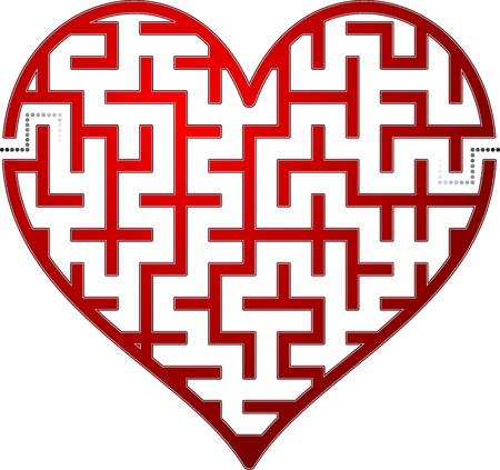 Ilustración de Heart maze. Vector illustration. - Imagen libre de derechos