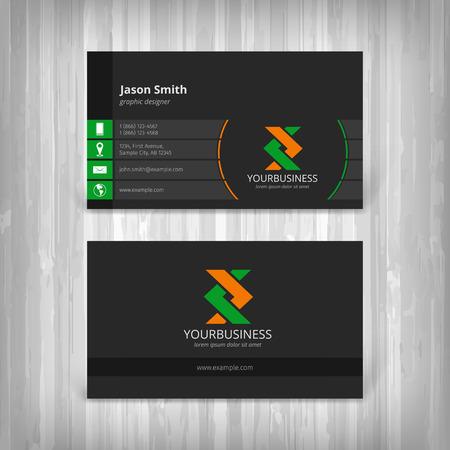 Photo pour abstract creative business cards - image libre de droit
