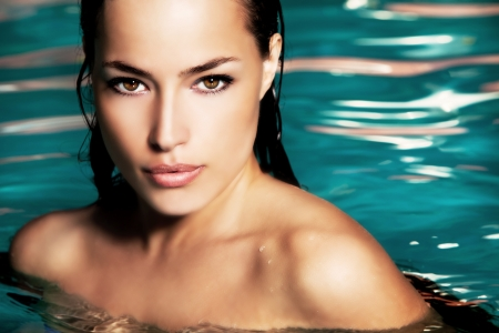 Photo for young woman beauty portrait in water - Royalty Free Image