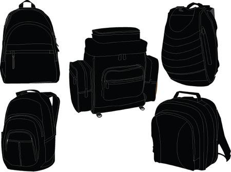 Illustration pour   rucksacks collection - image libre de droit