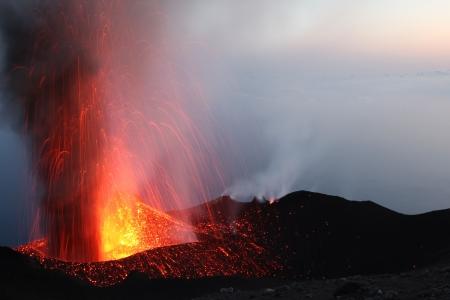 Erupting volcano Stromboli Part 2