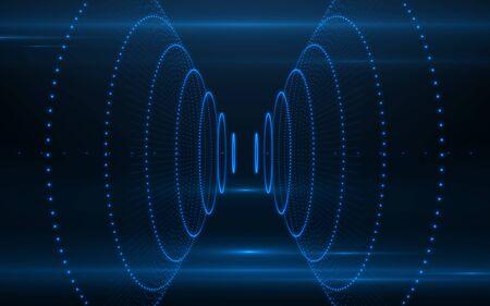 Photo pour Abstract technology lines background.Digital network lines design - image libre de droit