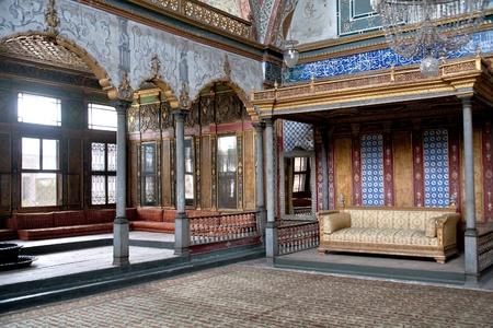 ISTANBUL - SEPTEMBER 12: interior of Harem room in Topkapi palace, on September 12, 2010 in Istanbul, Turkey