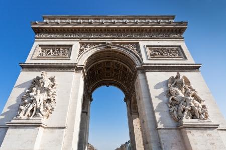 arc de triomphe de l etoile in Paris in sunny day