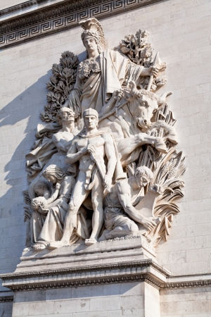 sculpture relief La Paix de 1815 of Triumphal Arch in Paris