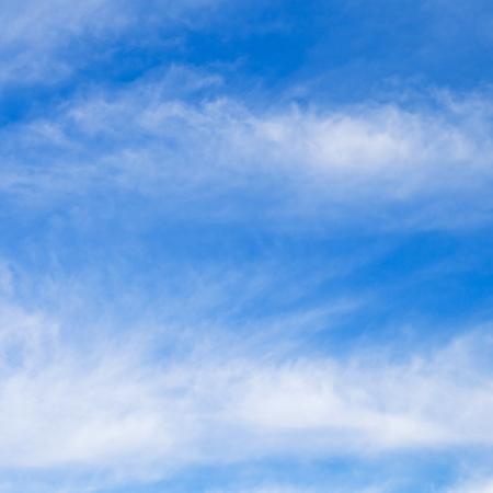 stratus clouds in blue sky i
