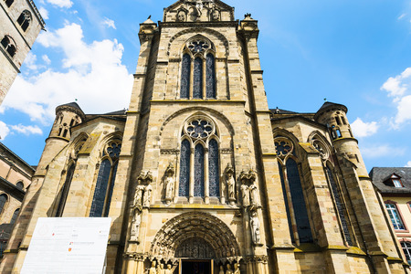 TRIER, GERMANY - JUNE 28, 2010: facade of Cathedral of Trier