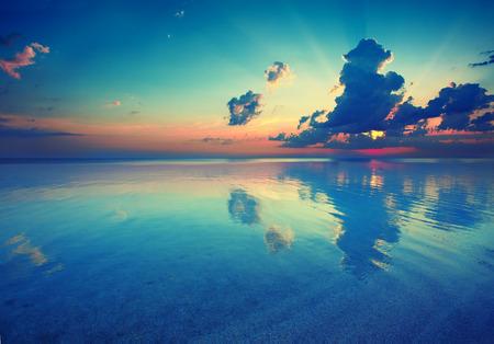 Early morning , sunrise over sea