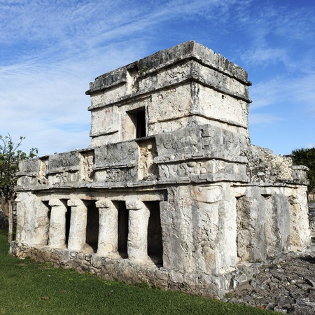 the temple of frescoes in december tulum mexico