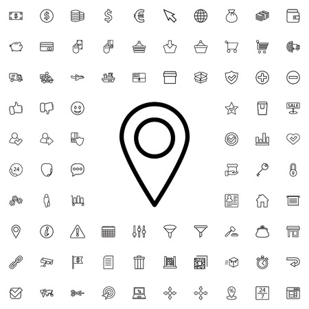 Illustration pour location icon illustration isolated vector sign symbol - image libre de droit