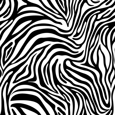 Illustration for Zebra skin pattern. - Royalty Free Image
