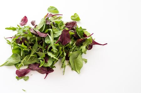 A set of greenery. Varied vegetables. Varied greens for salad. Top.