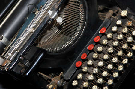 Old QWERTY typing machine