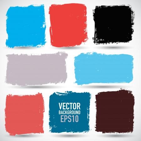 Illustration pour Grunge colorful backgrounds - image libre de droit