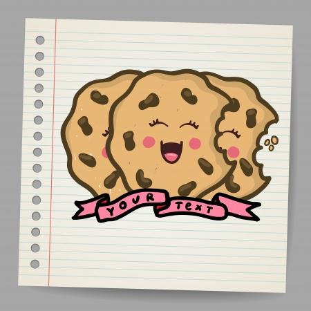 Doodle cookies, illustration