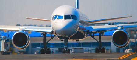 airliner departing gate