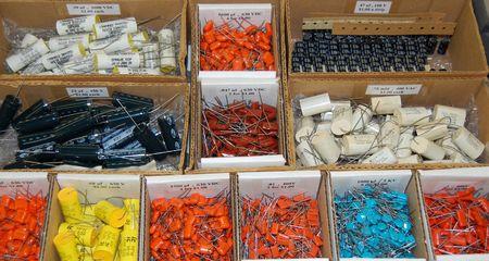 Electronic parts, flee market, Dayton, Ohio, May, 17, 2007