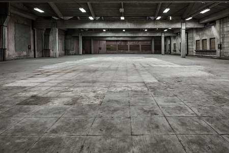 Photo for Industrial interior of an old factory building - Royalty Free Image